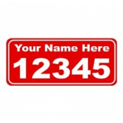 6 x 14 RED Ref Address Decals (Pair)