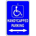 Handicap Parking Sign Arrows