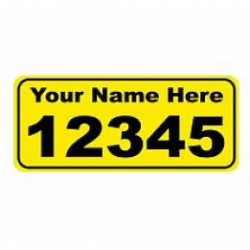 6 x 14 YELLOW Ref Address Decals (Pair)
