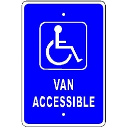 Handycap Van Accesible Sign