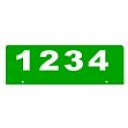 C - 6 x 18 GREEN Horizontal Reflective Address Sign BOTTOM MOUNT