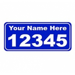 6 x 14 BLUE Ref Address Decals (Pair)