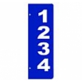 A - 6x18 BLUE Verticle Reflective Address Sign SIDE MOUNT