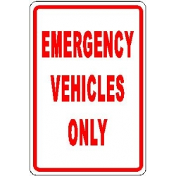 Emergency Parking Sign