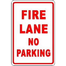 Fire Lane No Parking Sign