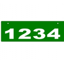 D - 6 x 18 GREEN Horizontal Reflective Address Sign TOP MOUNT