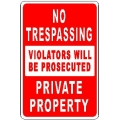 No Trespassing Sign 2