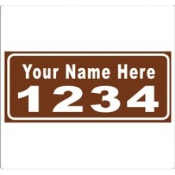 6 x 14 BROWN Ref Address Decals (Pair)