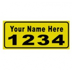 6 x 14 GOLD Ref Address Decals (Pair)