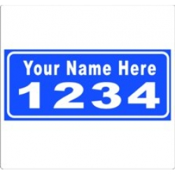 6 x 14 LIGHT BLUE Ref Address Decals (Pair)