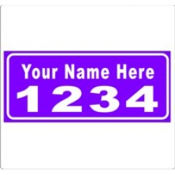 6 x 14 PURPLE Ref Address Decals (Pair)