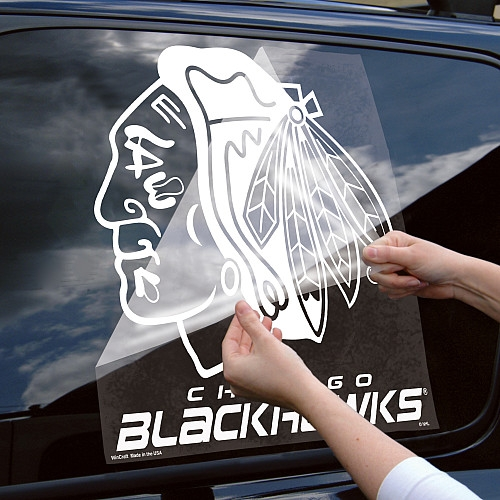 Graphics For Chicago Blackhawks Rear Window Graphics Www - Window stickers for cars chicago