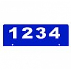 C - 6 x 18 BLUE Horizontal Reflective Address Sign BOTTOM MOUNT