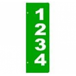 A - 6 x 18 GREEN Verticle Reflective Address Sign SIDE MOUNT