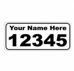 6 x 14 WHITE Ref Address Decals (Pair)